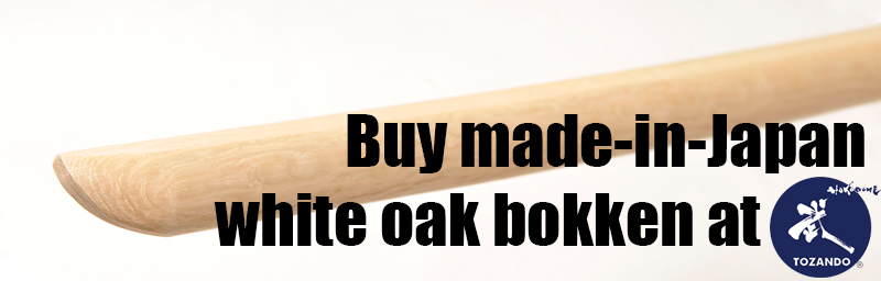 Buy made-in-Japan white oak bokken at Tozando Online Shopping