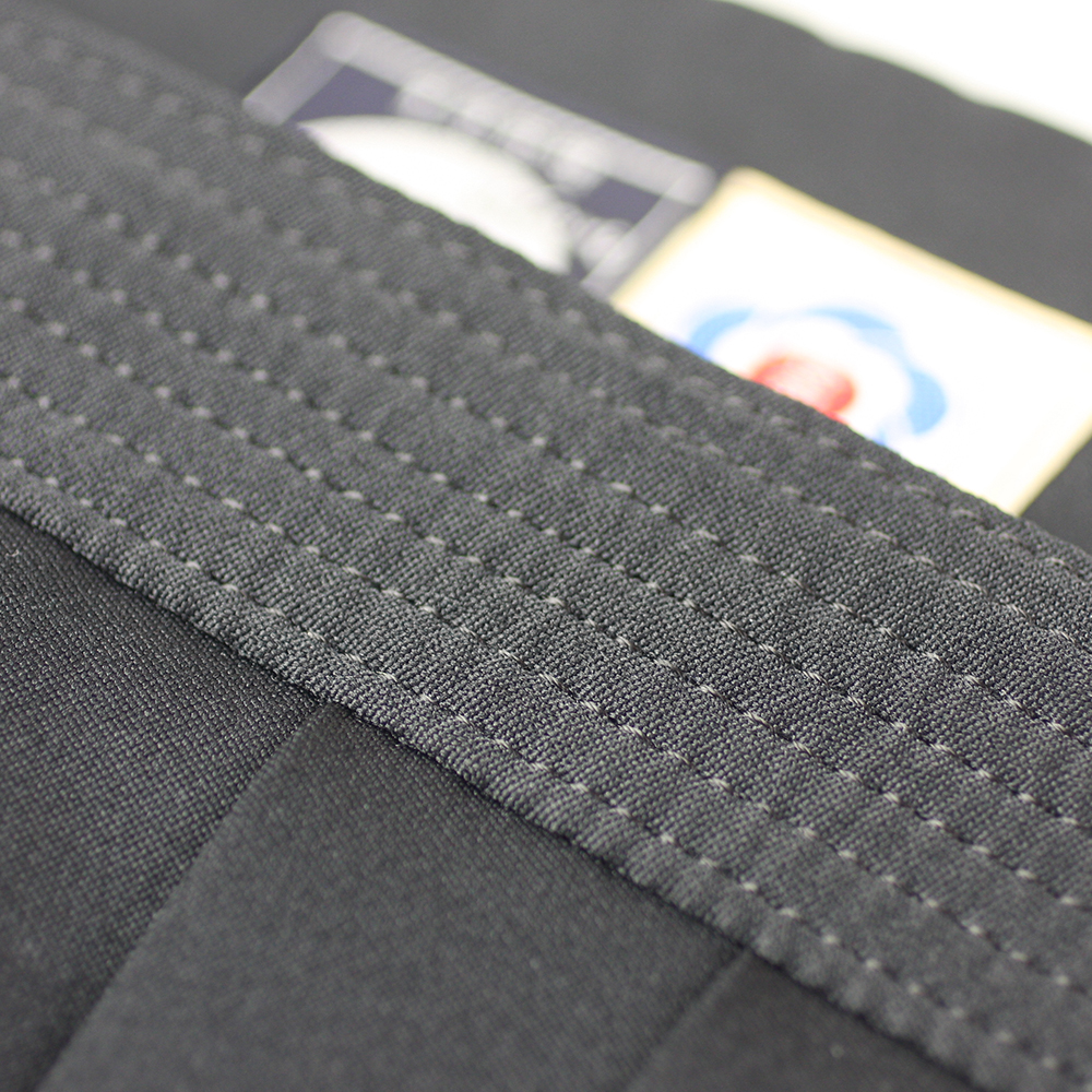 "close up on 7-lines of stitching of Tozando Deluxe Polyester Aikido Hakama ""UME"""
