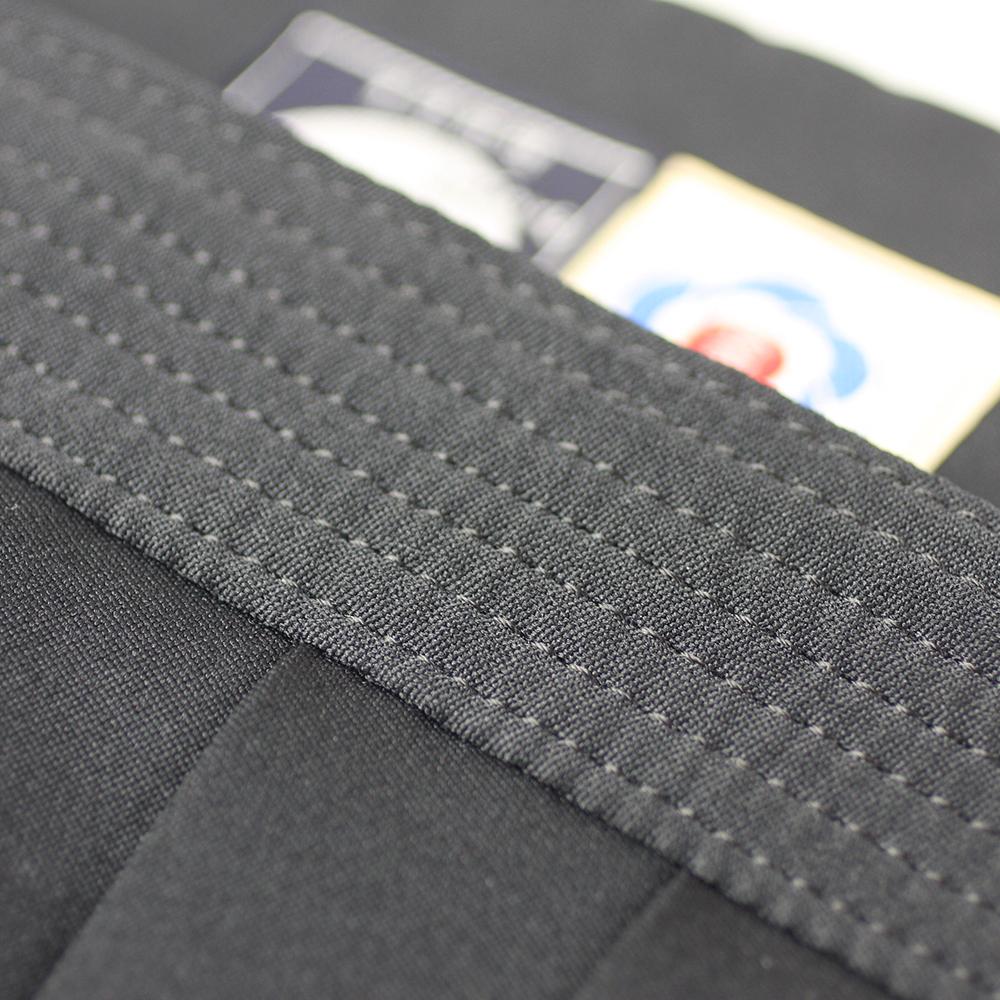 "close up on 7-lines of stitching of Tozando Deluxe Polyester Aikido Hakama ""UME"""
