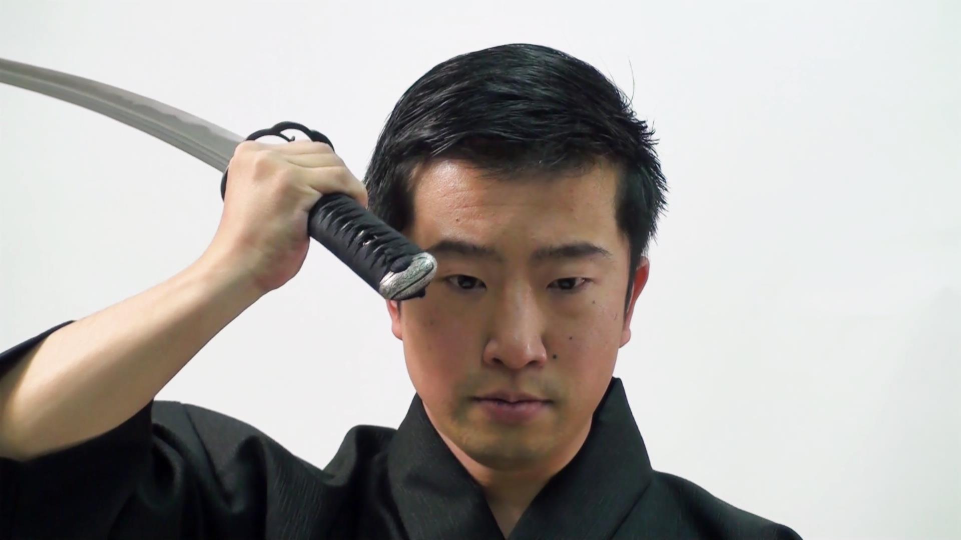 Iaido Renshi 6-dan Matsuno Hideki demonstrating Kata.