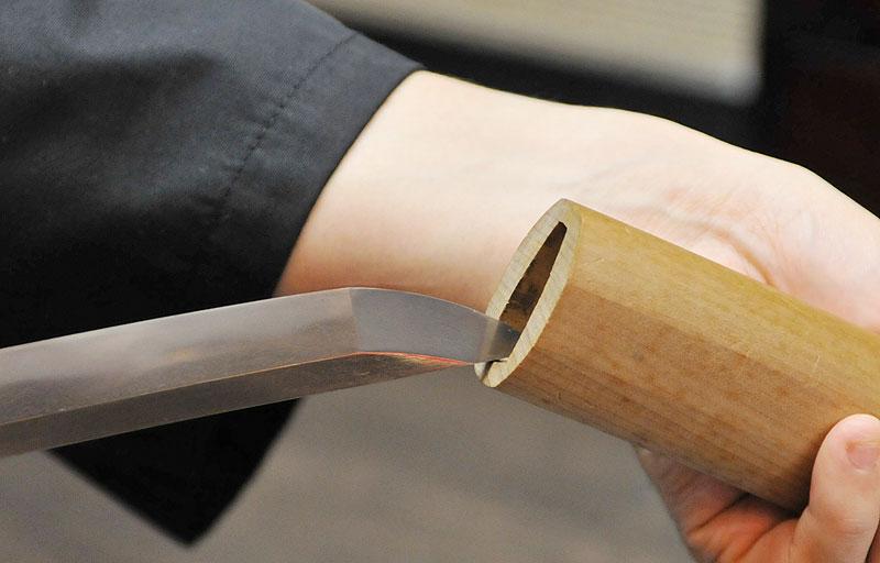 Image of sheathing Japanese sword