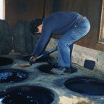 "Indigo-dye: Because the ""Japan Blue"" has a scent of Wabi-sabi"