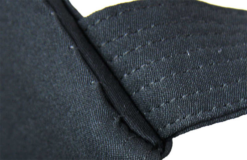 The part where the Koshi-ita is connected to the Hakama is nearly sewn together without any lose parts