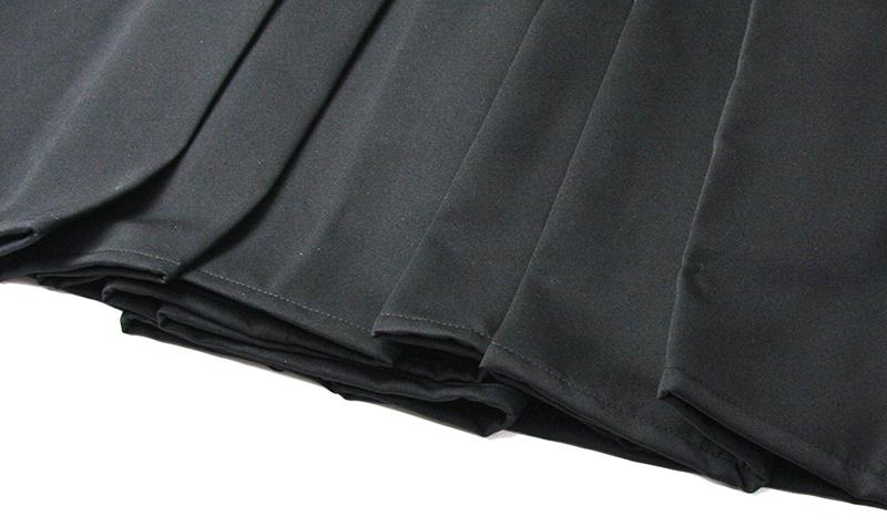 Bottom hem without edge stitching and Aikido cut on a generic Aikido Hakama