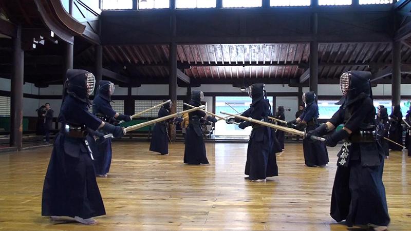 Kendo Keiko in Kyoto Butokuden