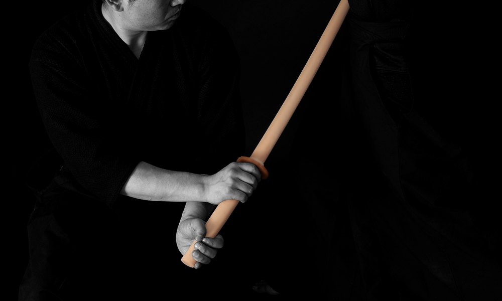 Kendo Kata demonstration with Biwa(loquat) bokken wooden stick