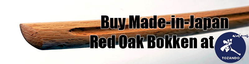 Buy Red Oak Bokken made in Japan at Tozando