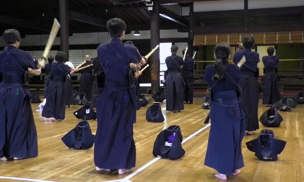 Kendo Suburi at Kyoto Butokuden