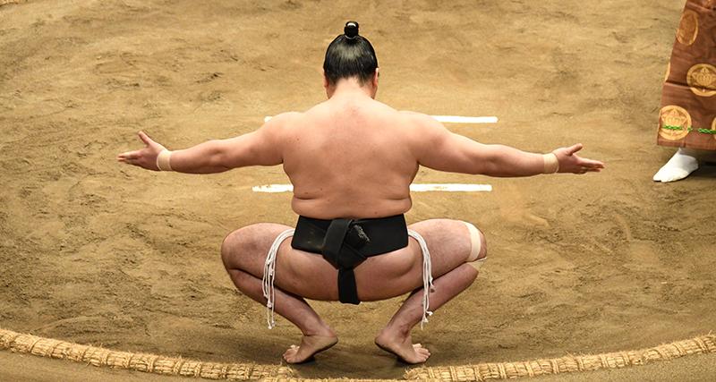 Sumo Rikishi Sonkyo position