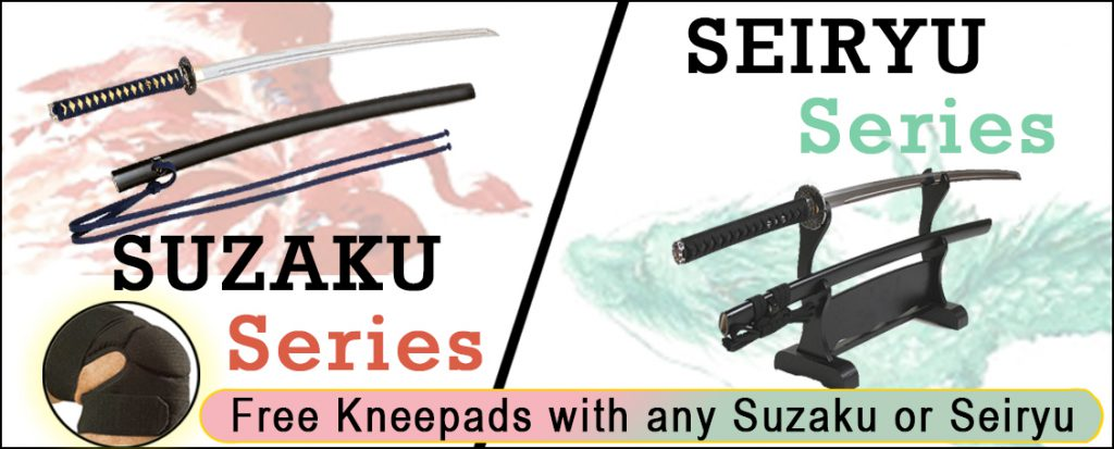 Free kneepads with any Suzaku or Seiryu Iaito
