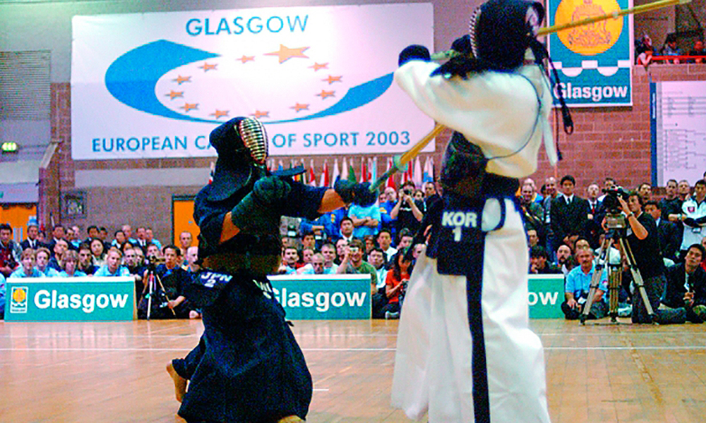 The final ippon of the 2007 World Kendo Championships in Glasgow.