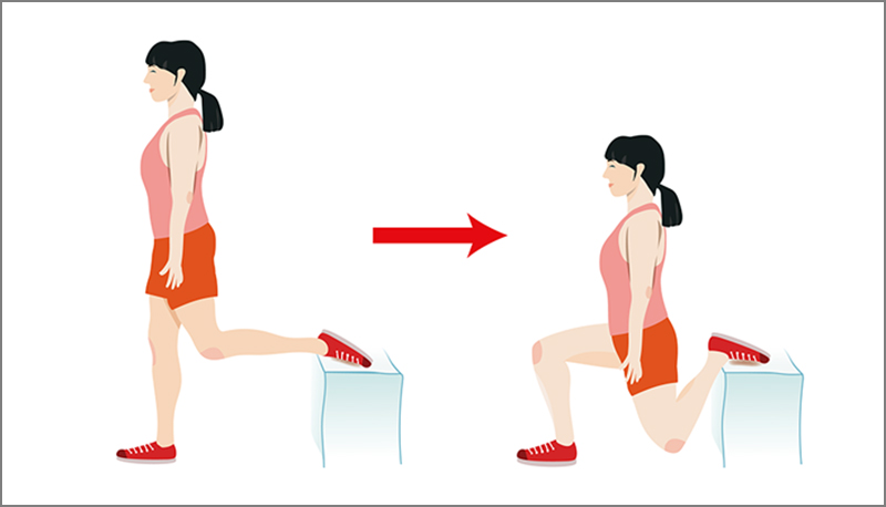 Bulgarian Squatting illustration