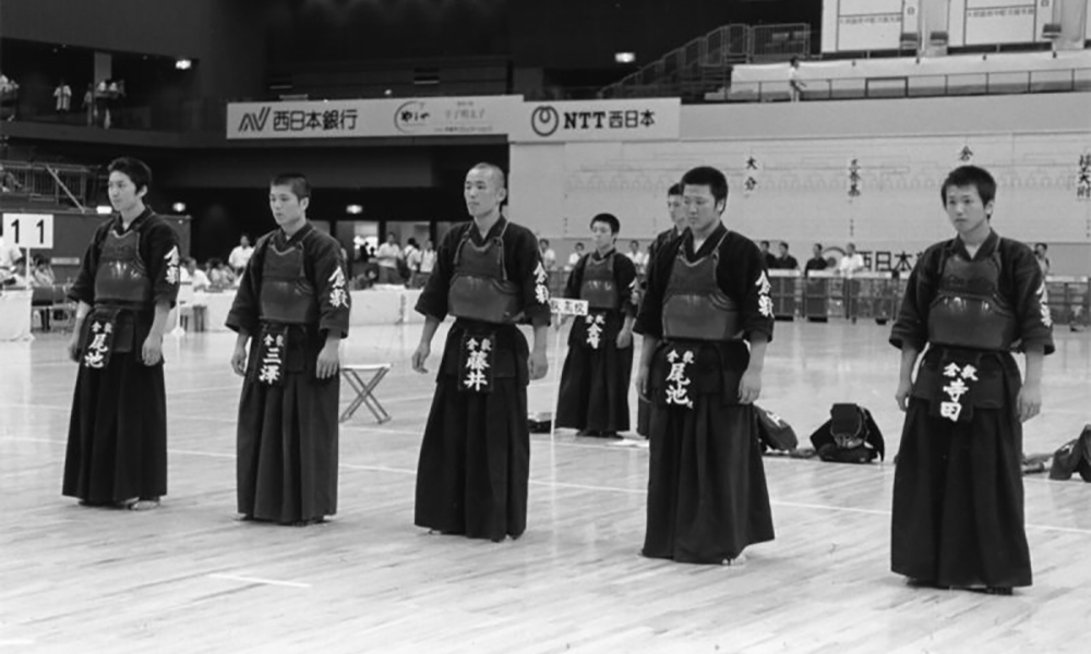 Kurashiki High School Kendo Club team