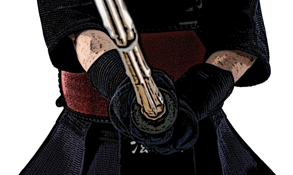 Kendo Kamae holding Shinai