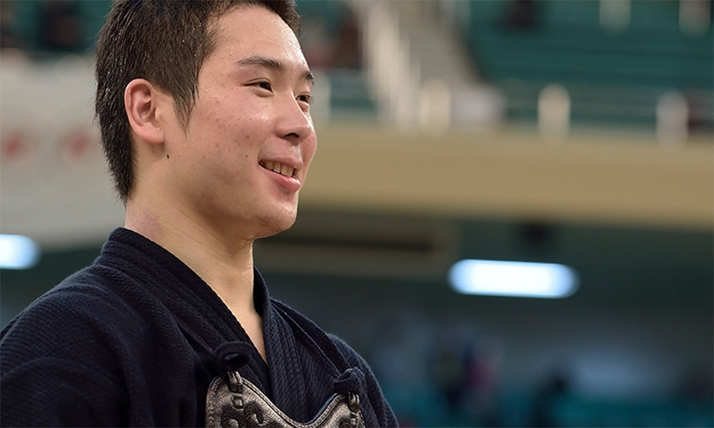 Yuya Takenouchi, a winner of 2014 All Japan Kendo Championship