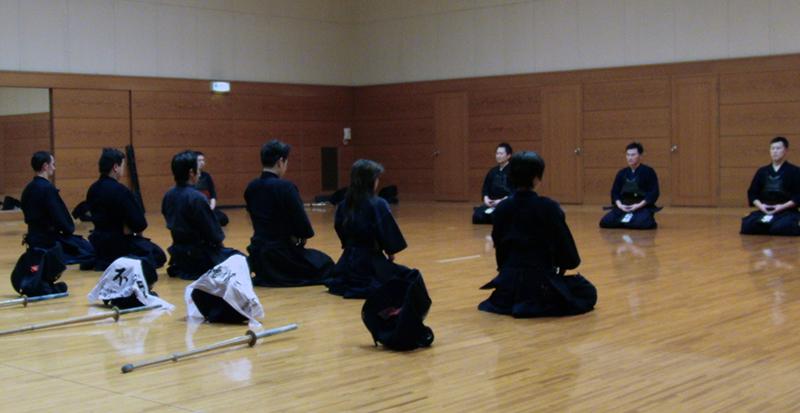 Mokuso meditation after Kendo Keiko practice