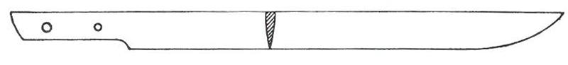 Hira-zukuri style Japanese sword