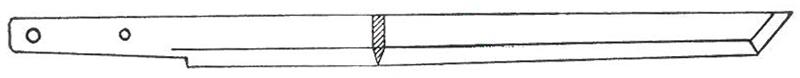 Kiriha-zukuri style Japanese sword