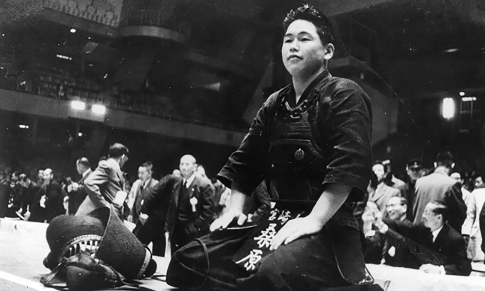 Tetsuaki Kuwahara at 1960 All Japan Kendo Championship
