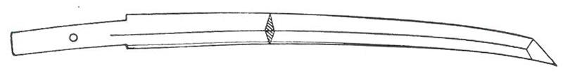 Shinogi-zukuri style Japanese sword