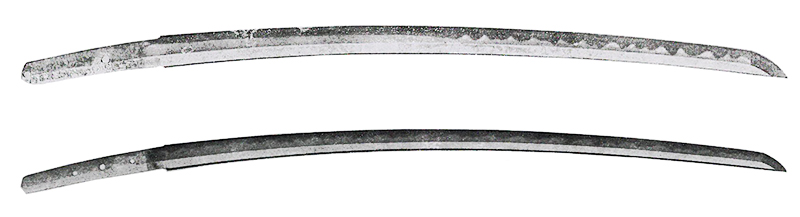 Japanese sword Uchigatana illustration