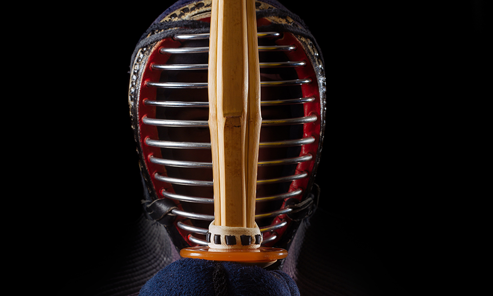 Image of Kendo player concentrating