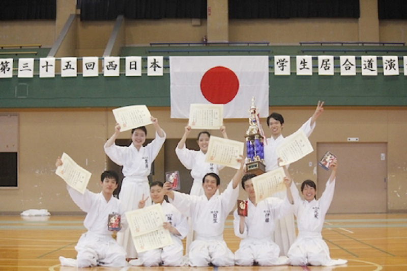 Winners of West Japan Student Iaido Taikai