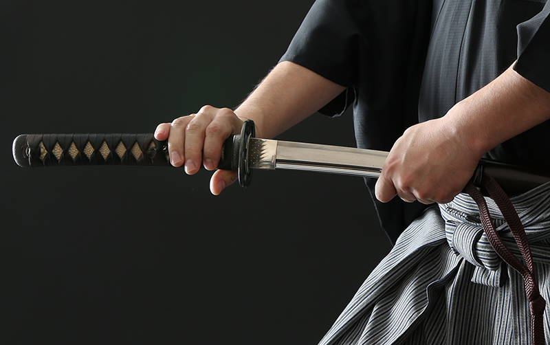 Image of drawing Japanese sword
