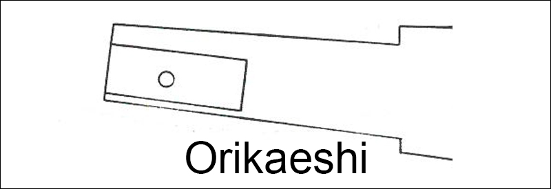 Illustration of Orikaeshi Nakago(folded tang)