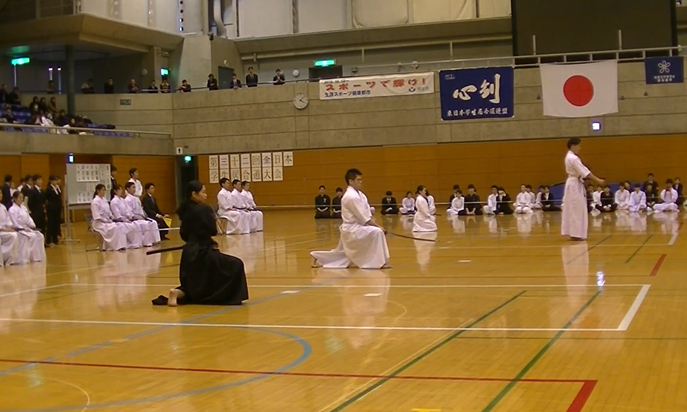Iaido demonstration at All Nippon Student Iaido Taikai