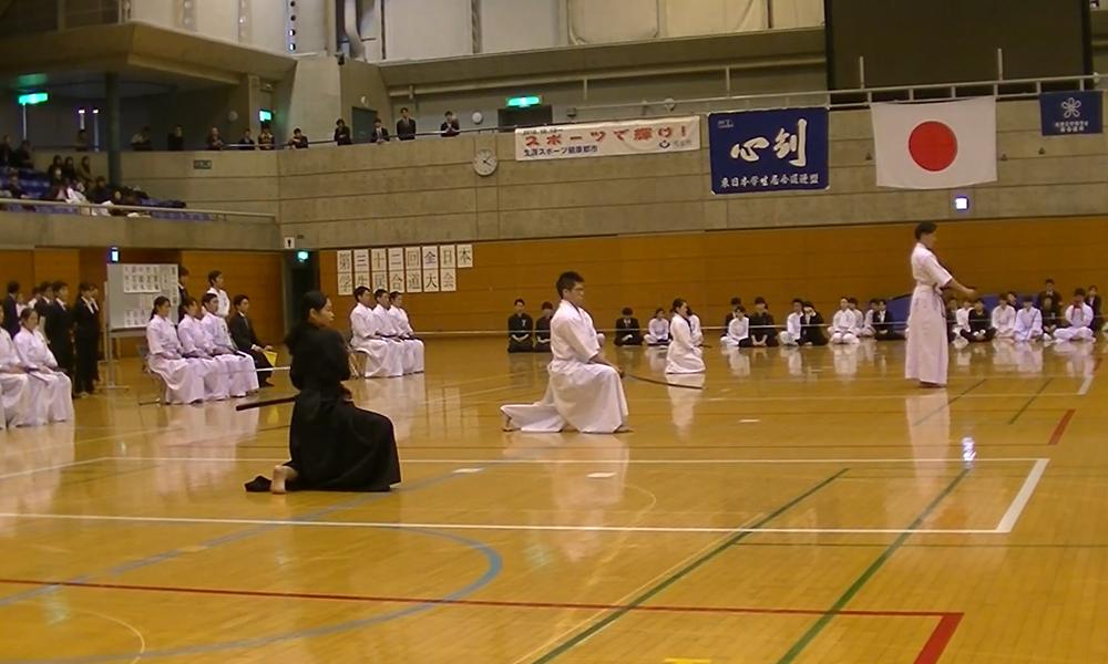 Iaido demonstration at All Nippon Student Iaido Taikai