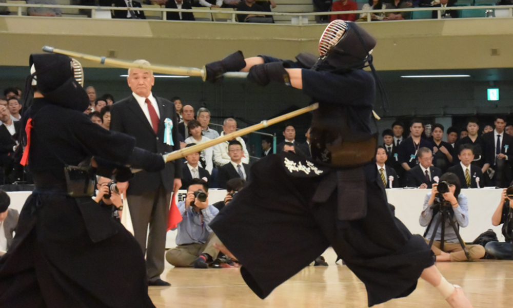 Ando Sho striking Men at the 66th All Japan Kendo championship