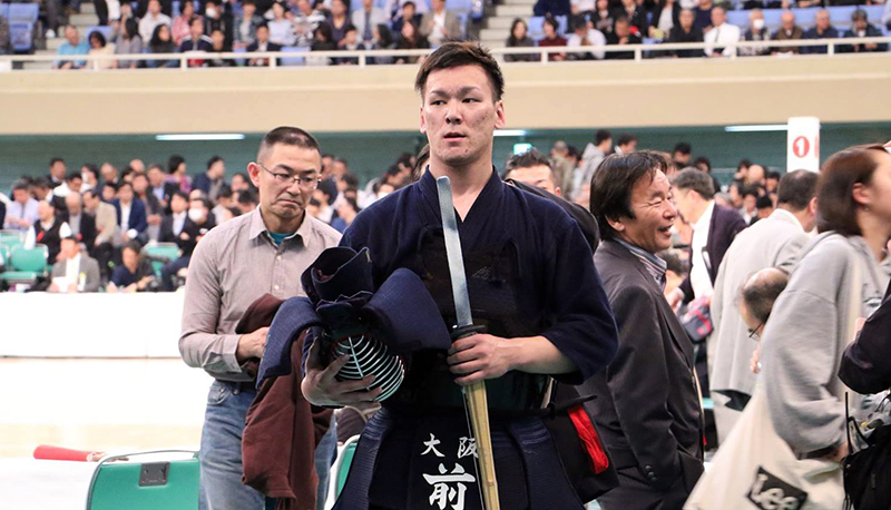 Maeda exiting the area(the 66th All Japan Kendo Championship)