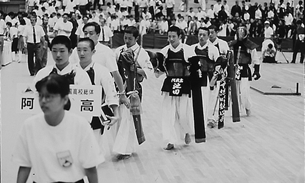 Aso High School beating PL Gakuen in 1991 Kendo Inter High