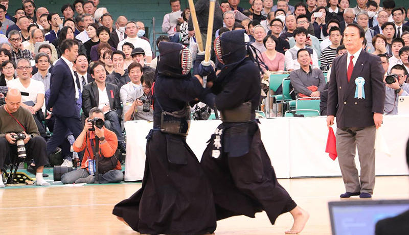 hayashida against katsumi at the 66th All Japan Kendo championship