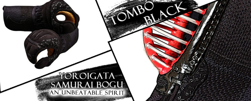 Tombo Black - Yoroigata Bogu with beautiful tombo inden decorations.