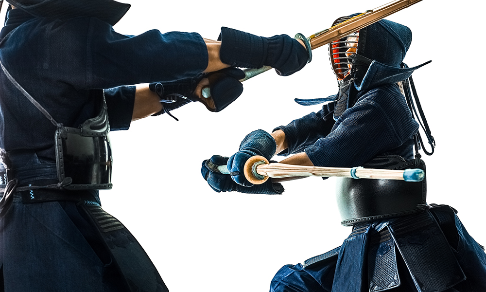 Image of Kendo player hitting Do