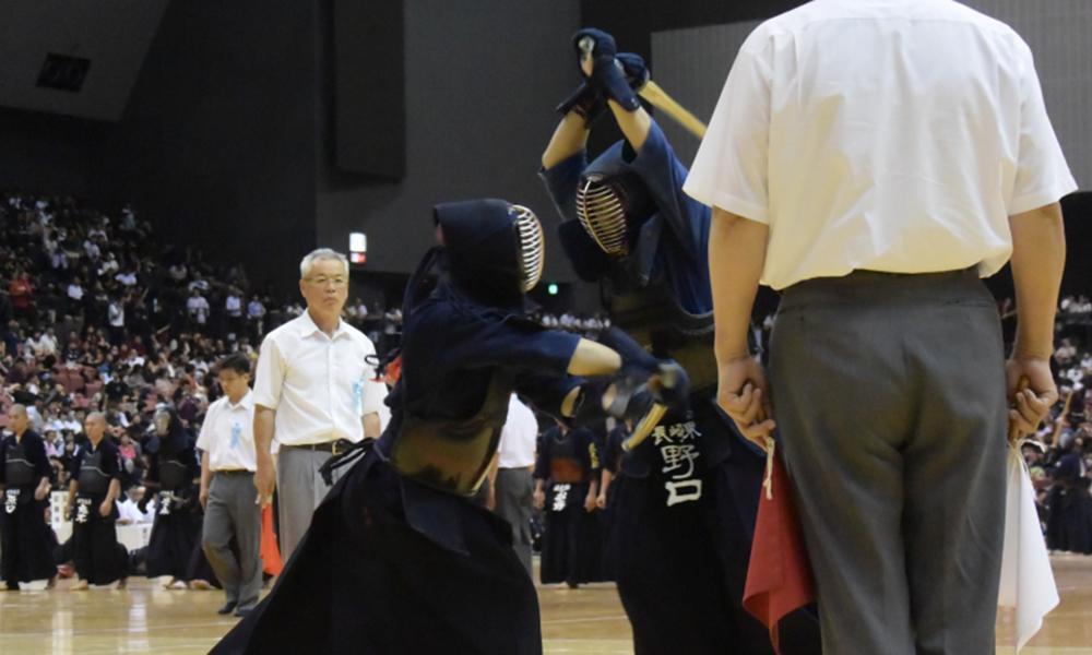 Kendo match in Kyushu