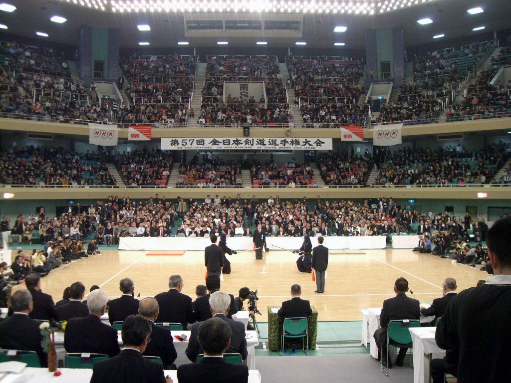 View of the Nippon Budokan during the 2009 All Japan Championships