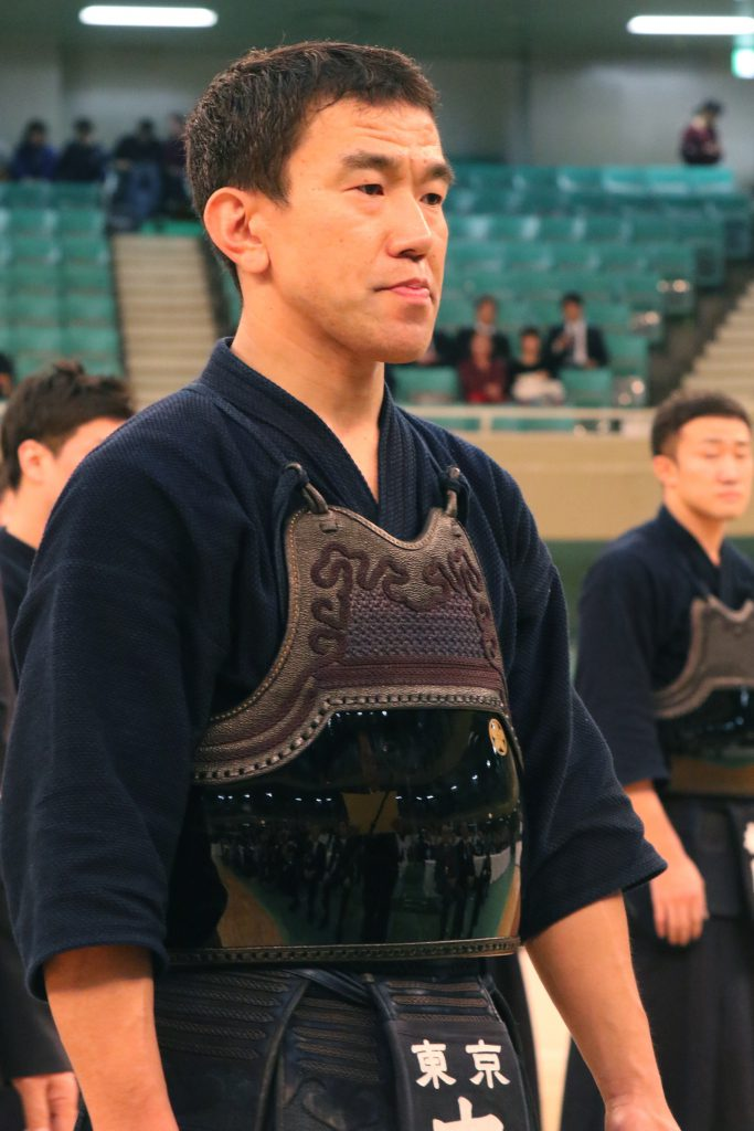 Uchimura Ryohei lining up at the Taikai.
