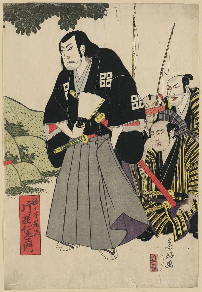Sasaki Kojiro as depicted in traditional art.