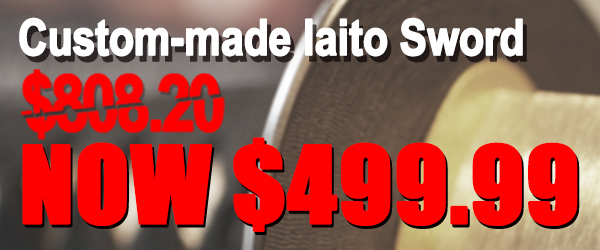 Custom Iaito Sword Only $499.99
