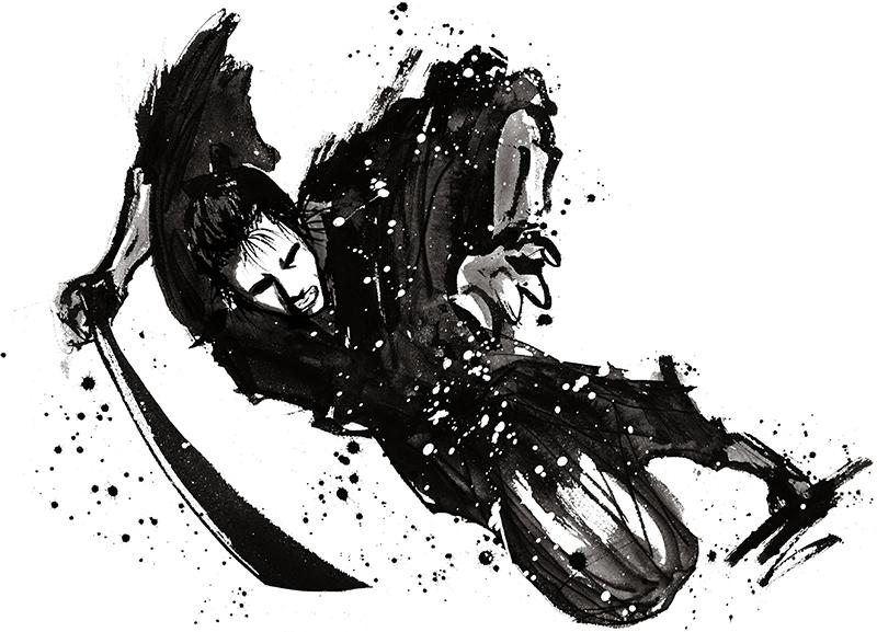 Illustration of Samurai warrior