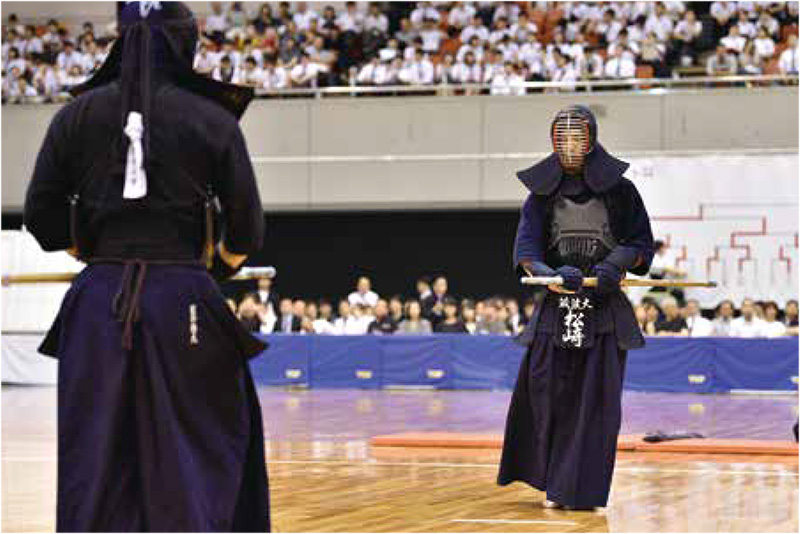 Matsuzaki ready for the tounament at the 67th All Japan Kendo championship
