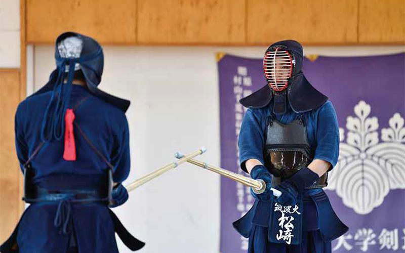 Matsuzaki Kenshiro practicing Kendo at Tsukuba University