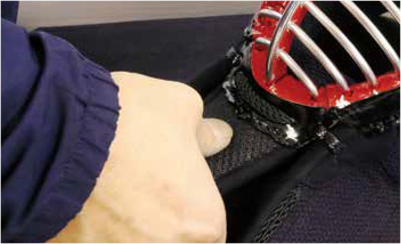 Checking the durability of Kendo Ago called Tsukidare