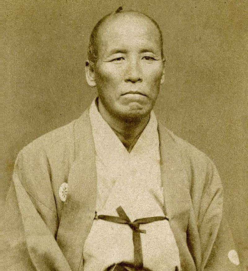 A portrait of Sakakibara Kenkichi